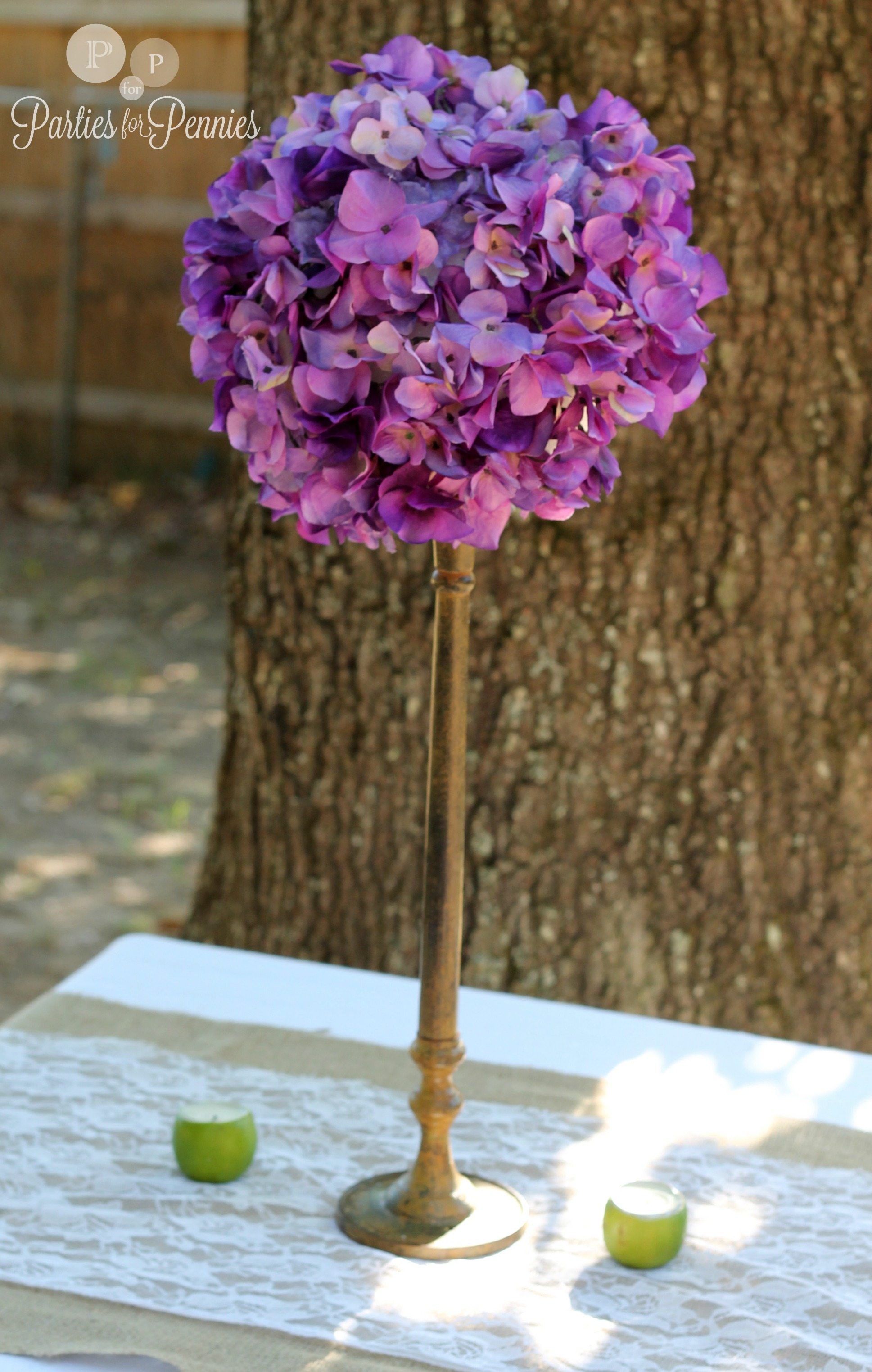 Wedding centerpiece parties for pennies