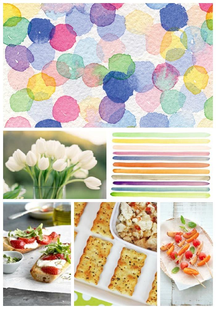 Watercolor Baby Shower Partyspiration Board