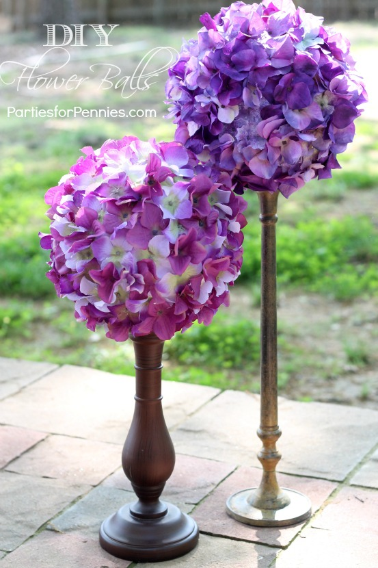 Diy Flower Balls Parties For Pennies