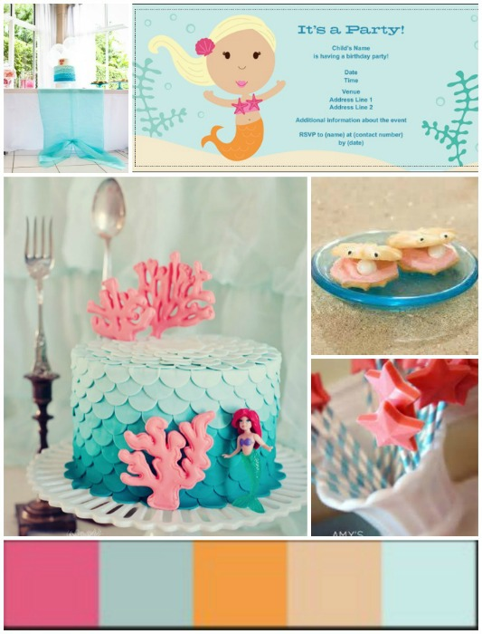 Mermaid Partyspiration Board