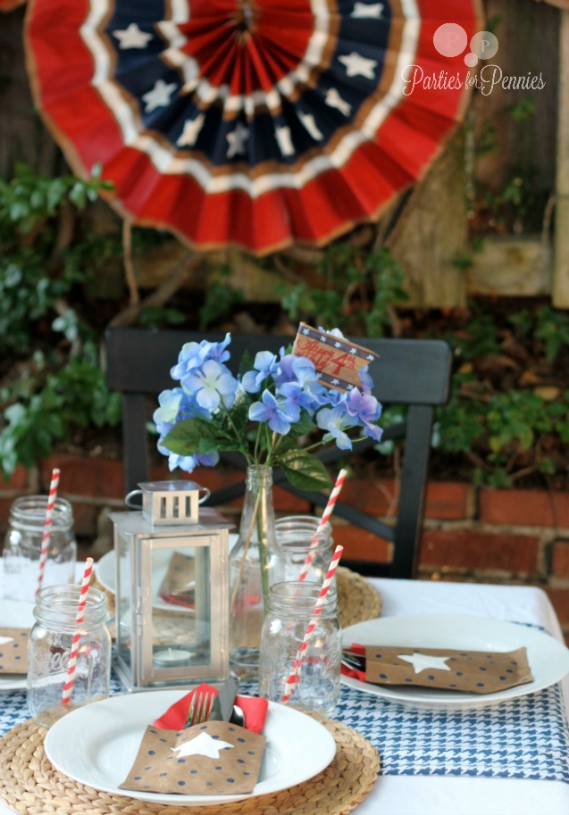 4th Of July Decorations Using Paper Bags Parties For Pennies