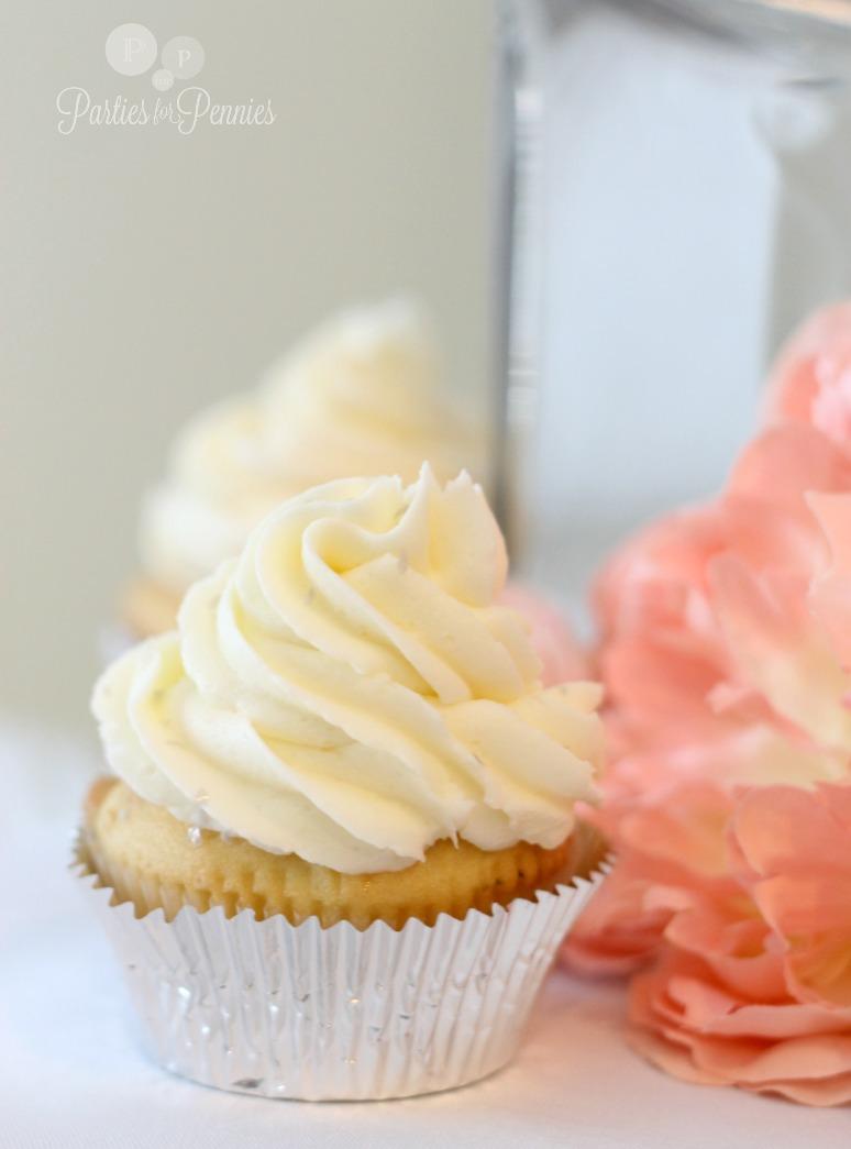 Princess Bridal Shower - Vanilla cupcakes