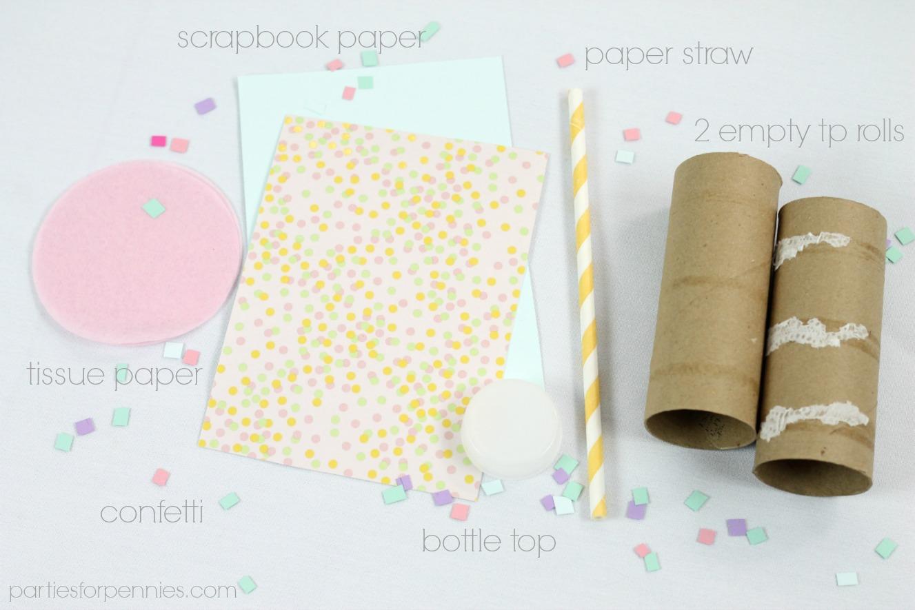 DIY Confetti Popper - materals