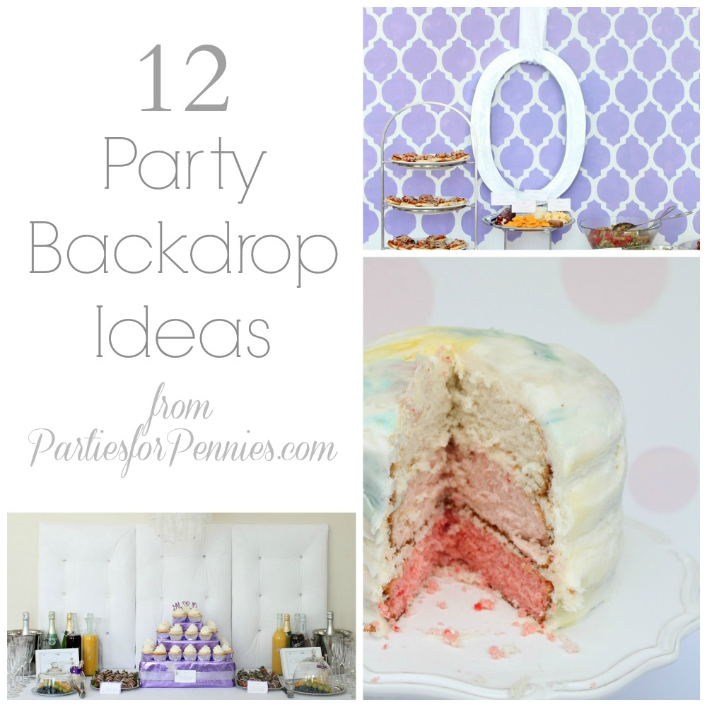 12 DIY Backdrop Ideas from PartiesforPennies.com