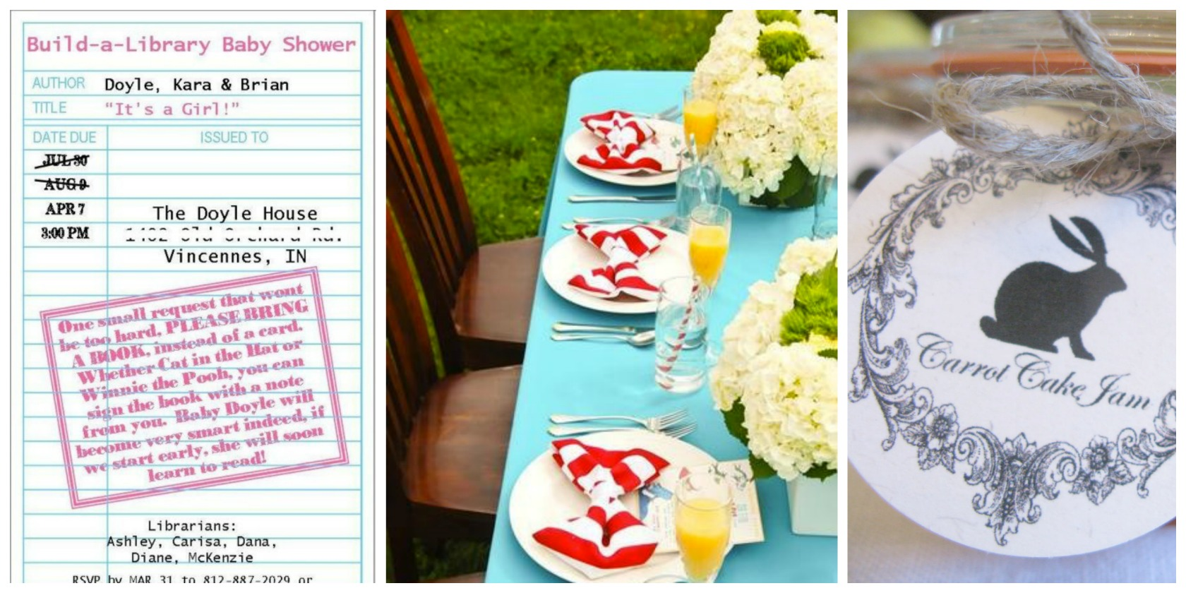 baby shower theme ideas books