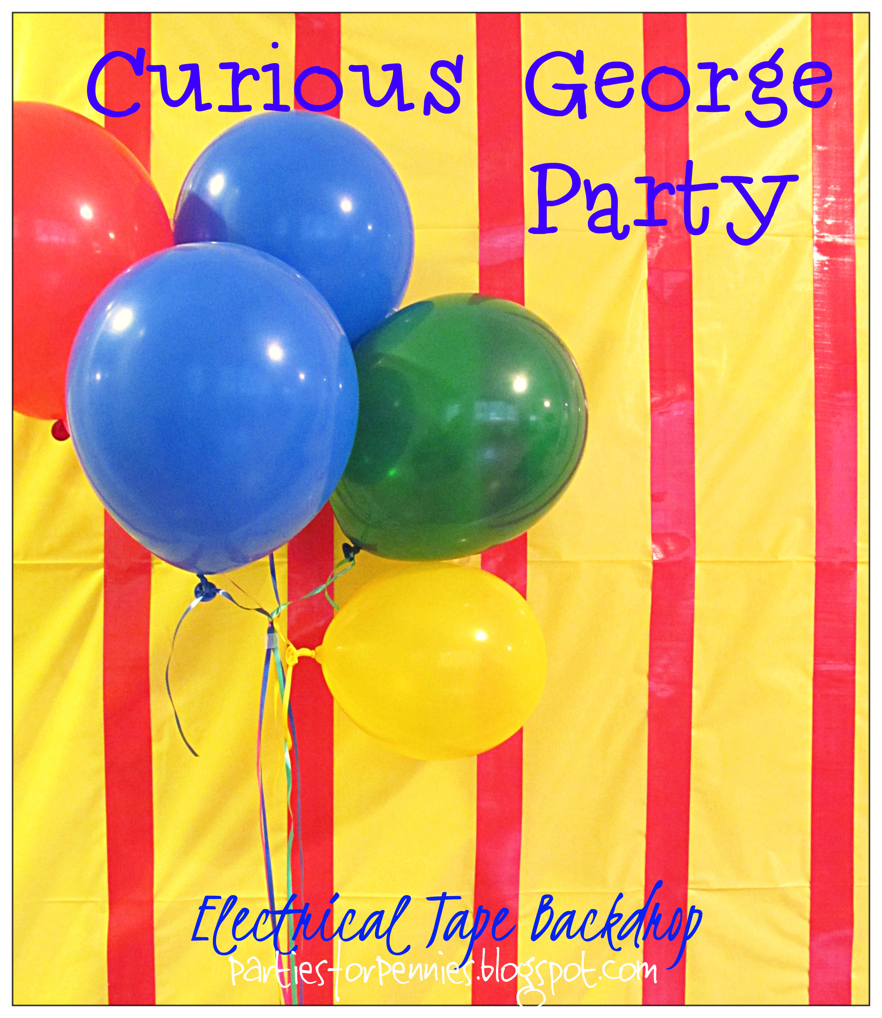 Curious George Backdrop by PartiesforPennies.com