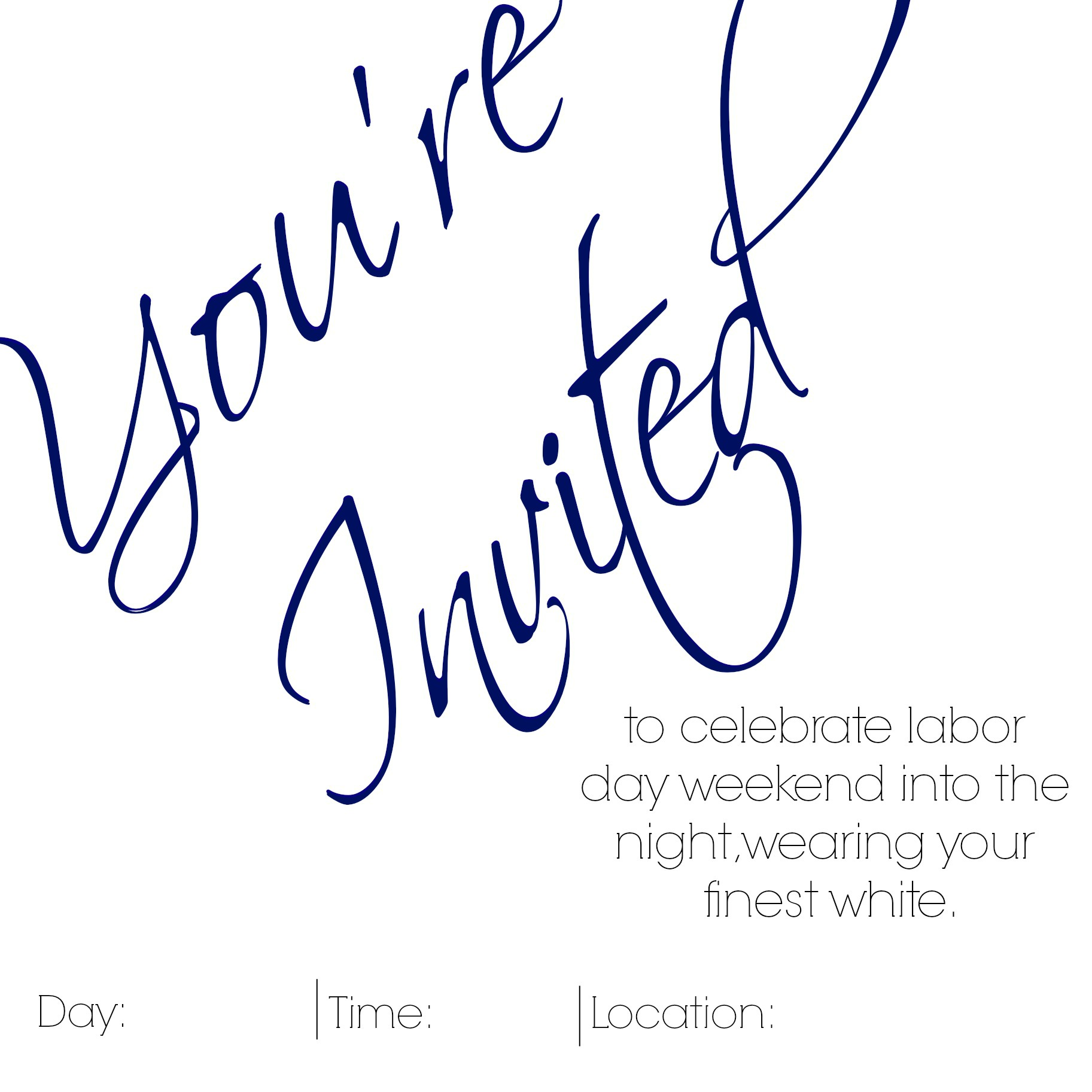Labor Day Party Invitation