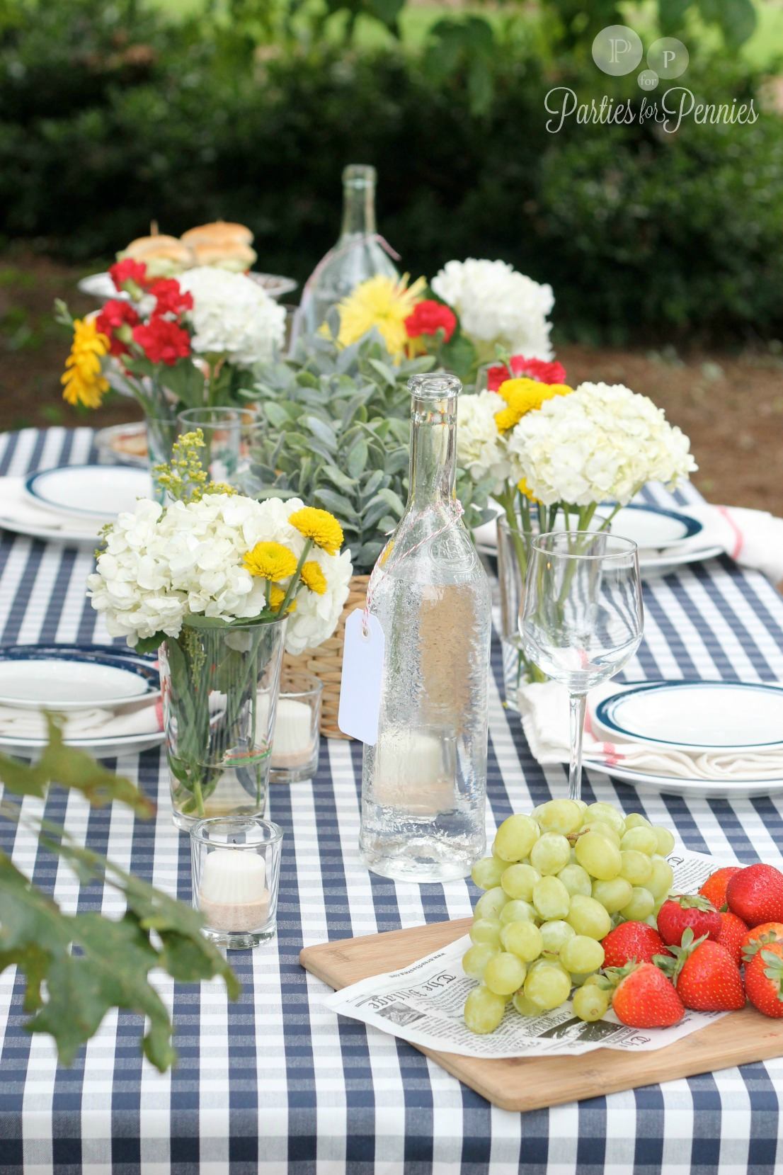 Labor Day Party by PartiesforPennies.com Table Spread