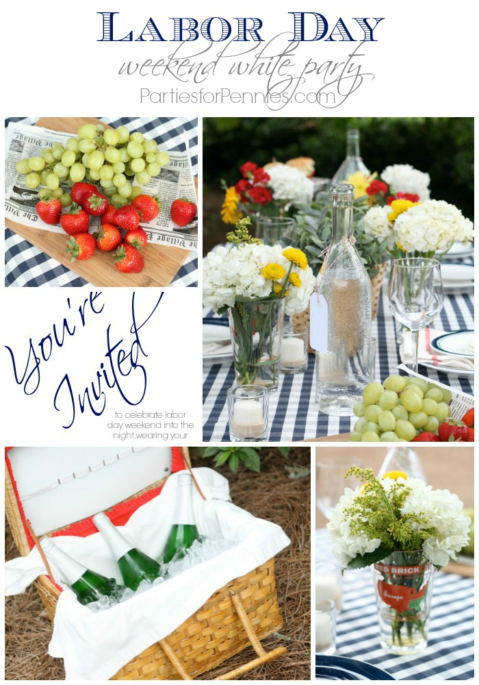 Labor Day Weekend White Party by PartiesforPennies.com with DressYourGuests