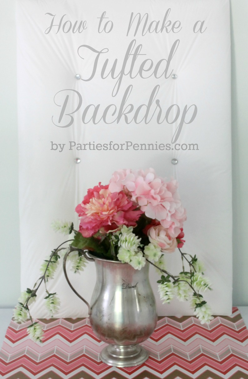 Tufted Backdrop Tutorial by PartiesforPennies.com