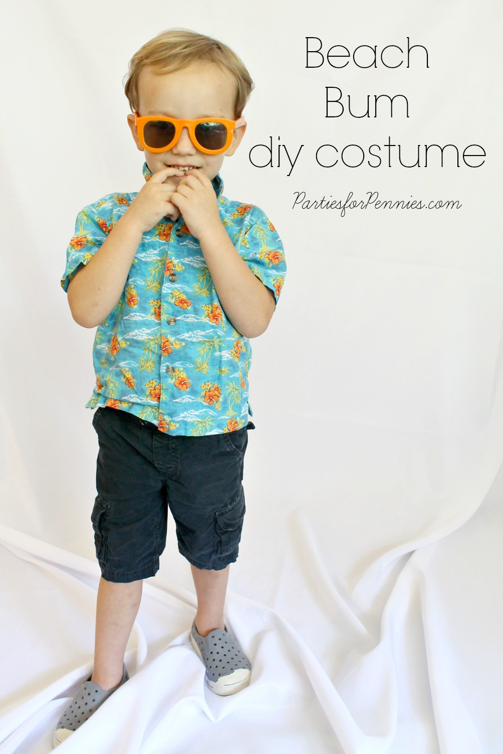 DIY Costume - Beach Bum by PartiesforPennies.com