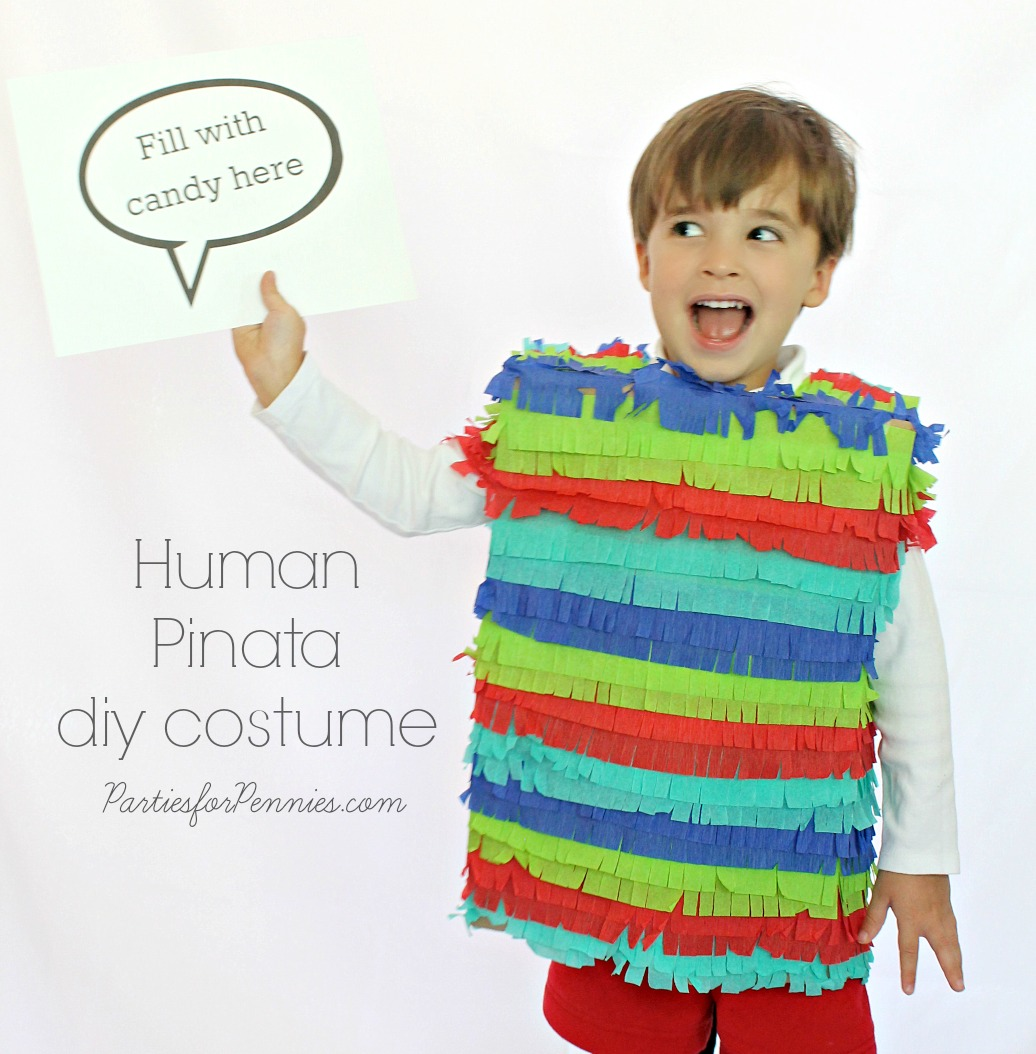 DIY Costume - Human Pinata by PartiesforPennies.com