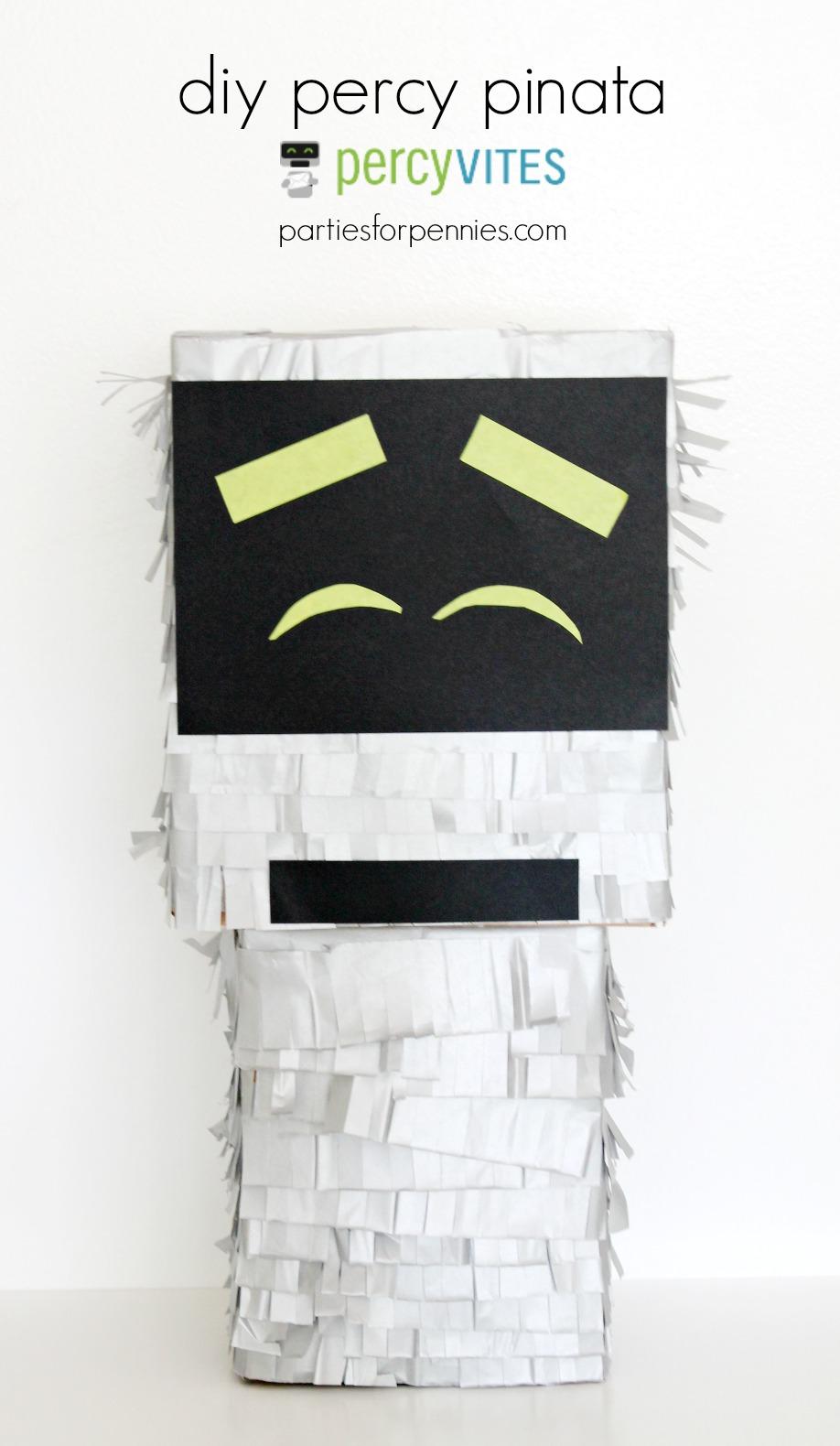 DIY Robot Pinata by PartiesforPennies.com
