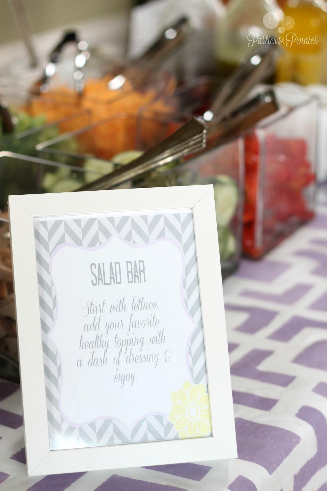 Jessicas Baby Shower - Salad Bar sign 1