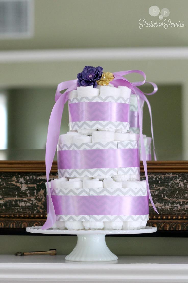 Jessicas Baby Shower - diaper cake