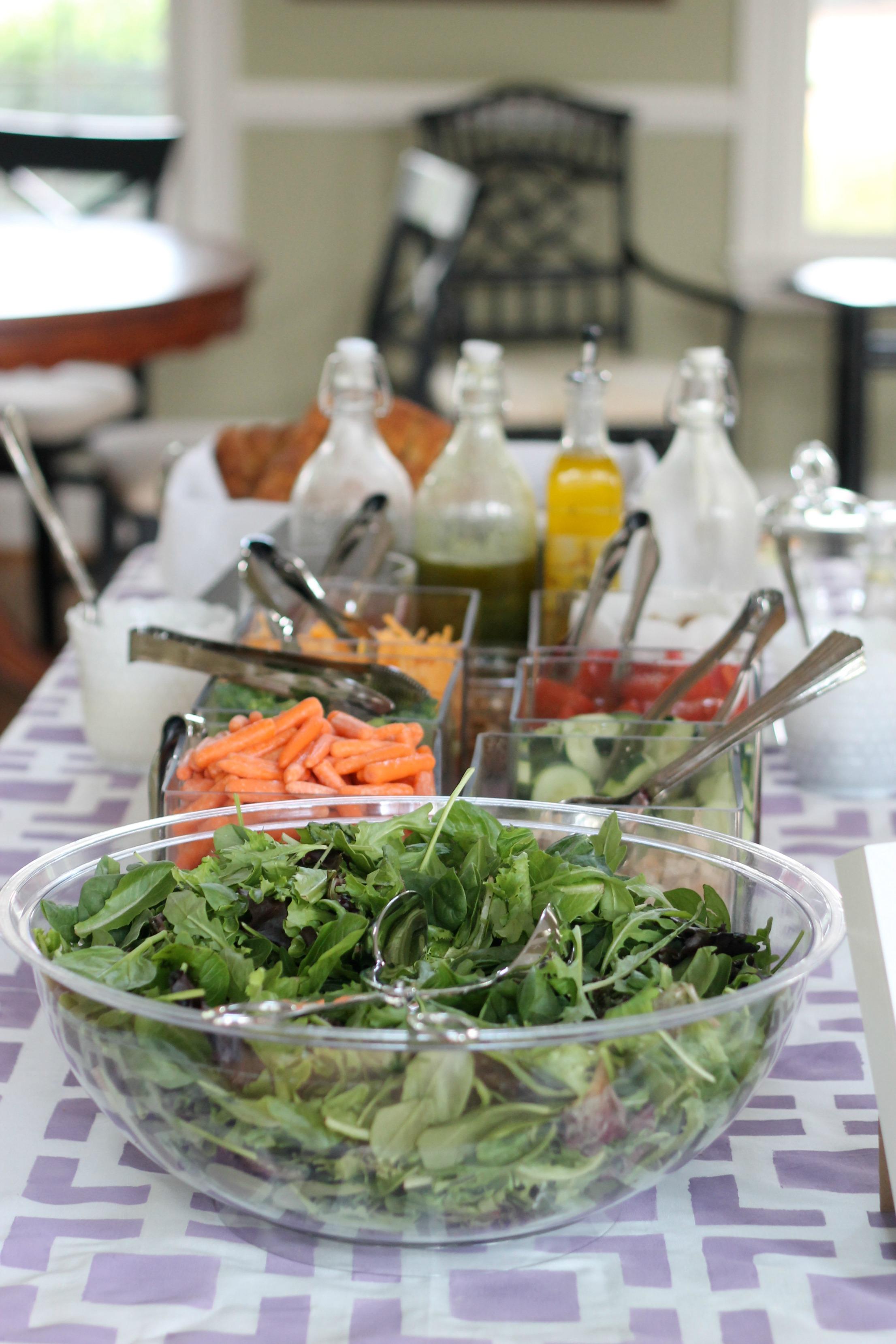 Purple, Gray & Yellow Baby Shower - Salad Bar