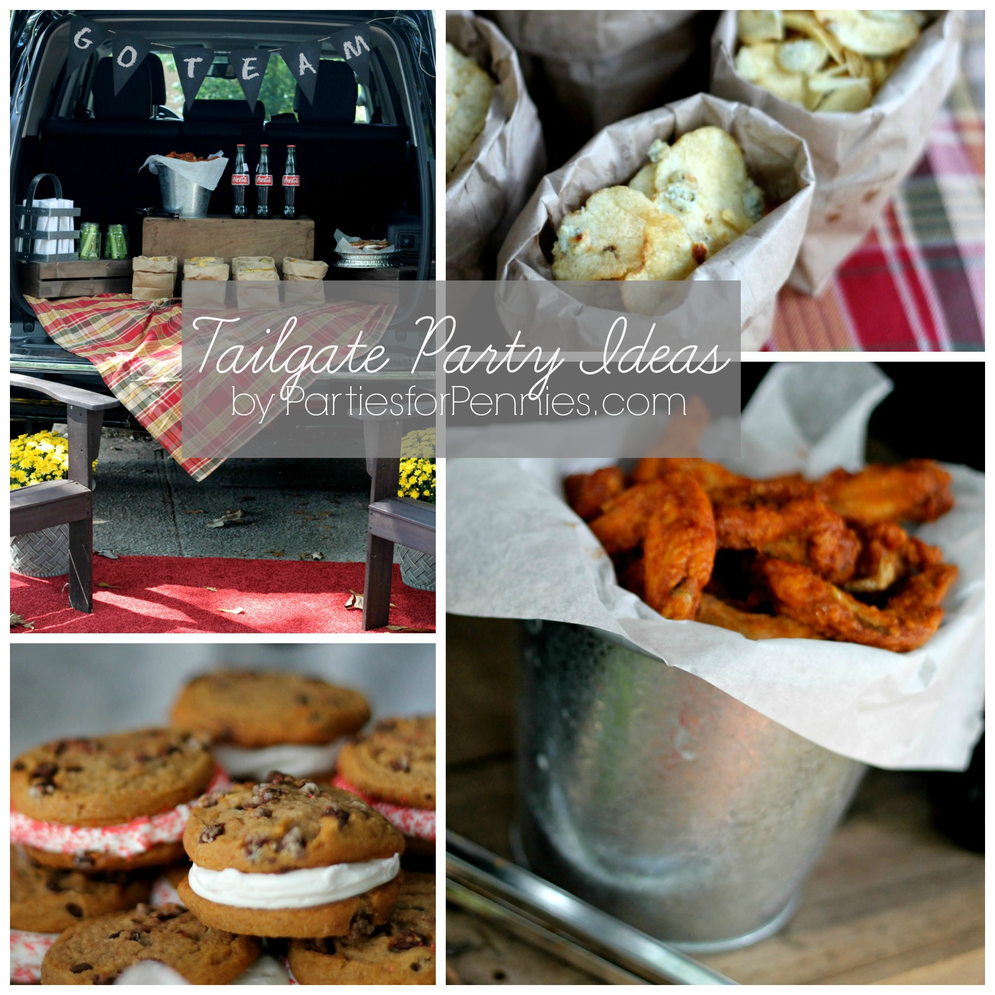 Tailgate Party Ideas by PartiesforPennies.com Collage