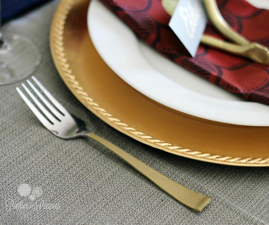 DIY Golden Silverware