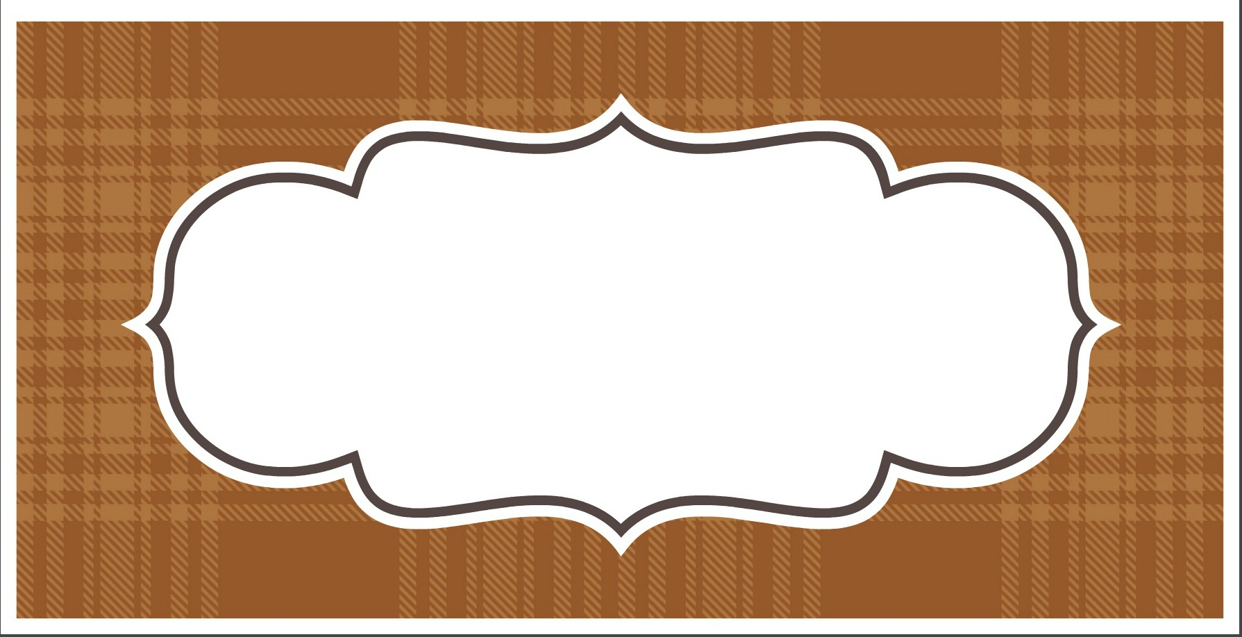 Thanksgiving Printable - Plaid by PartiesforPennies.com