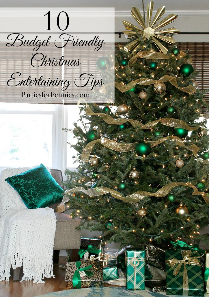 10 Budget Friendly Christmas Entertaining Ideas by PartiesforPennies.com