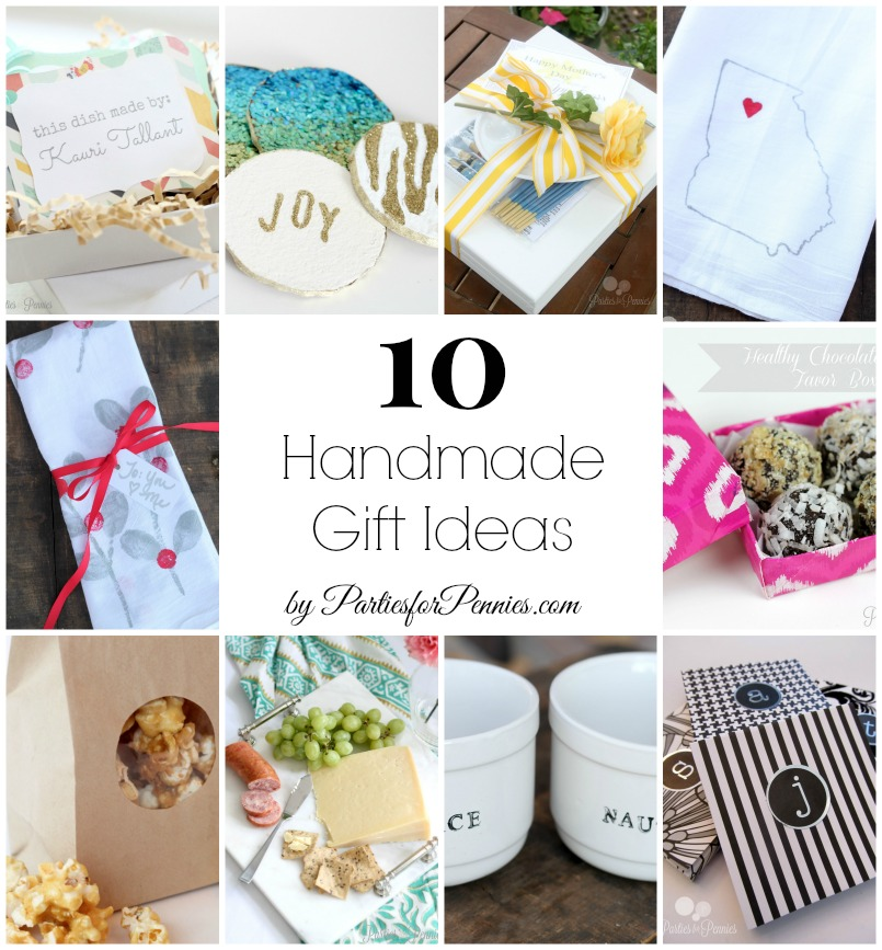 10 Handmade Gift Ideas by PartiesforPennies.com