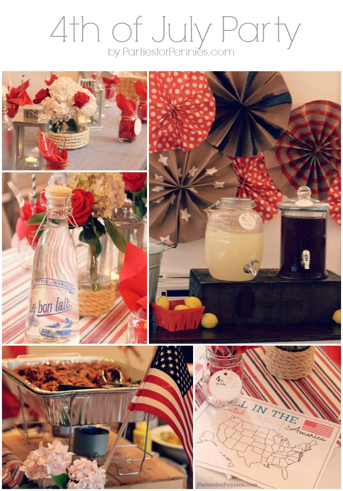 4th of July Party by PartiesforPennies.com