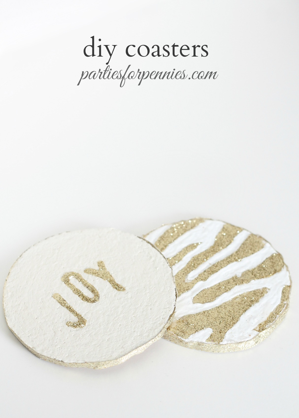 DIY Coasters by PartiesforPennies.com