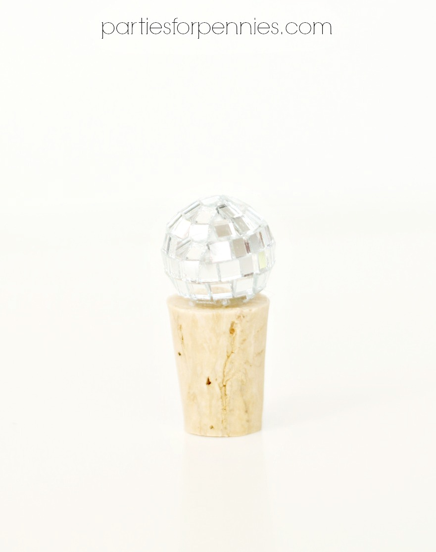 DIY Wine Stopper - disco ball by PartiesforPennies.com
