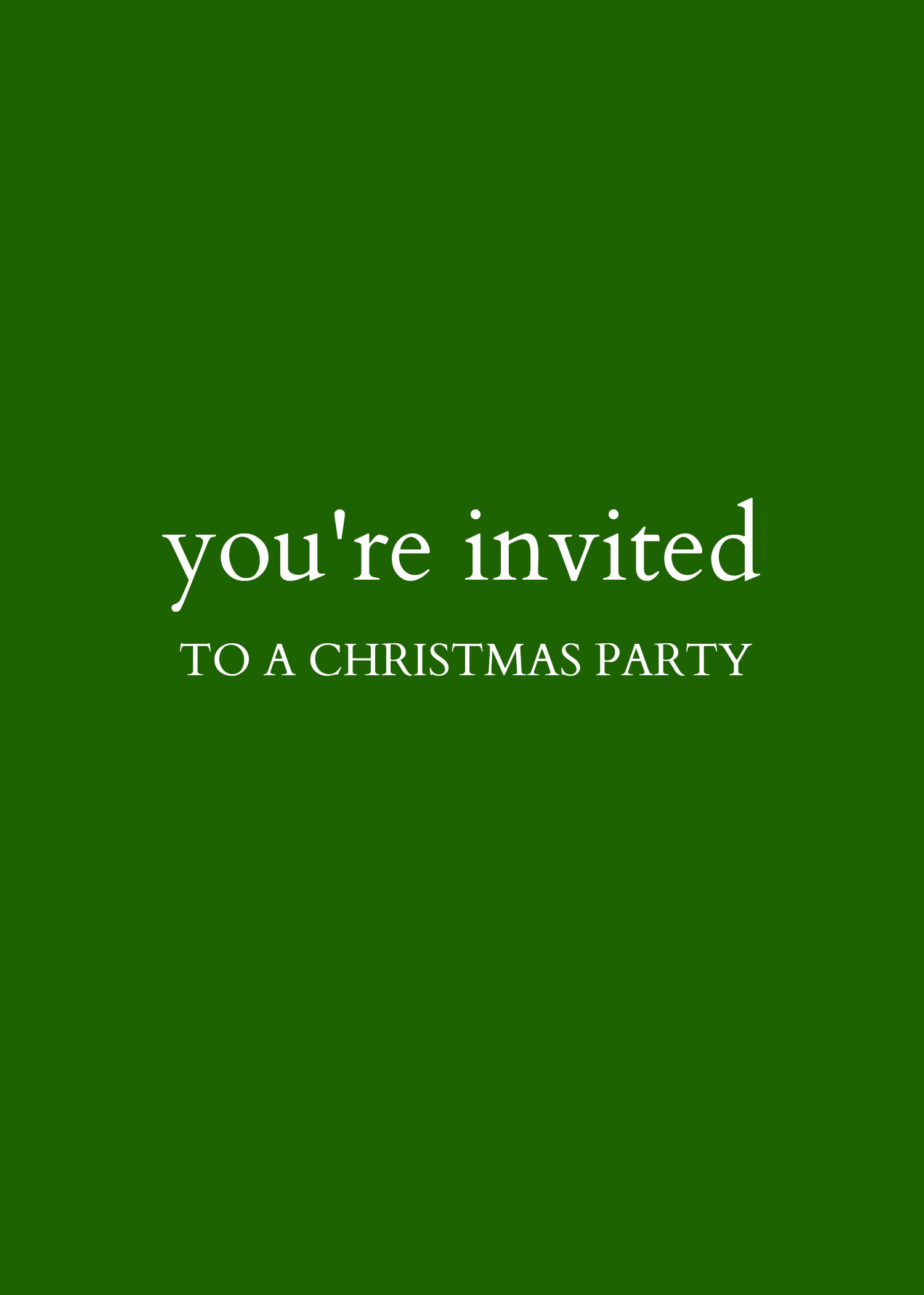 Kate Spade Christmas Party Invite - Cover