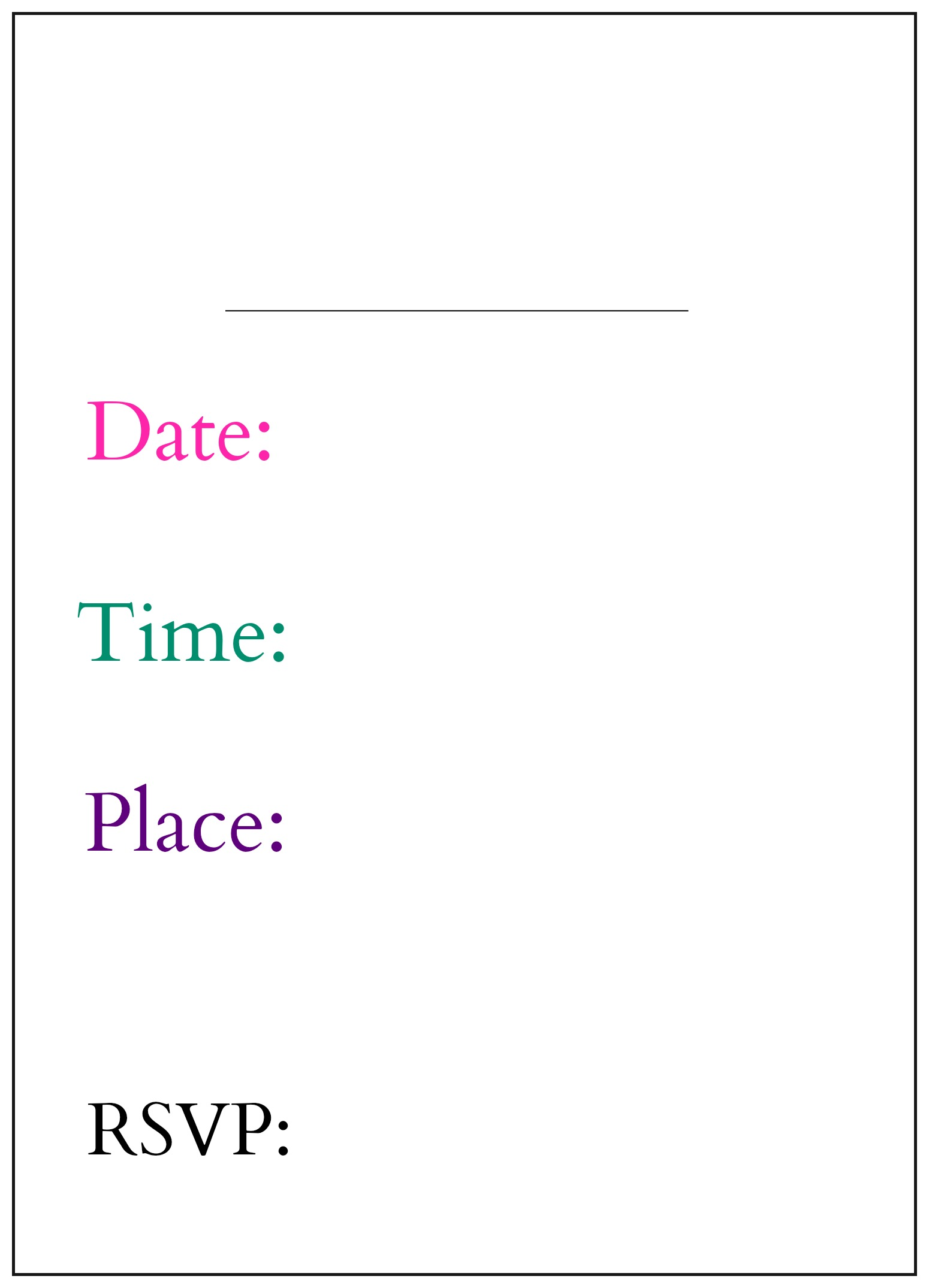 Kate Spade Holiday Invitation - back by PartiesforPennies.com