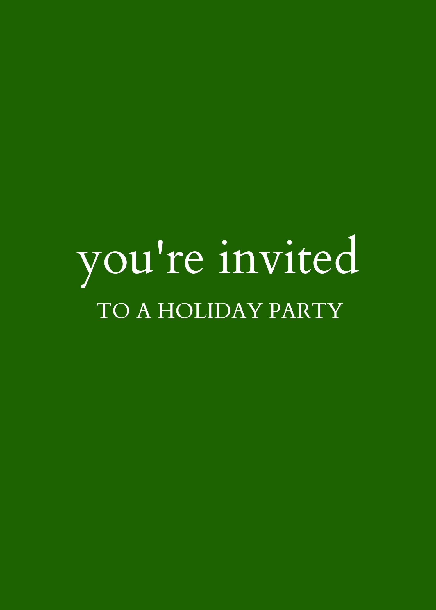 Kate Spade Holiday Party Invite - cover
