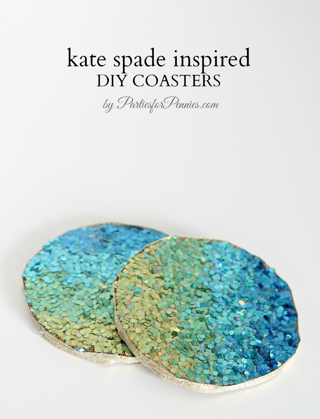 Kate Spade Inspired DIY Coasters by PartiesforPennies.com
