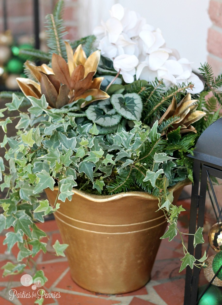 Natural Christmas Decoration Tips - Pot 3