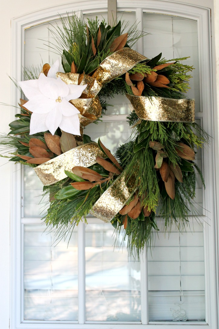 Natural Christmas - Wreath Tips on PartiesforPennies.com by Nectar & Company