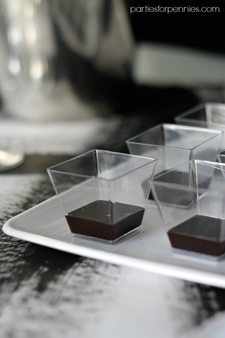 New Years Eve Party - Chocolate Dipping Sauce by PartiesforPennies.com