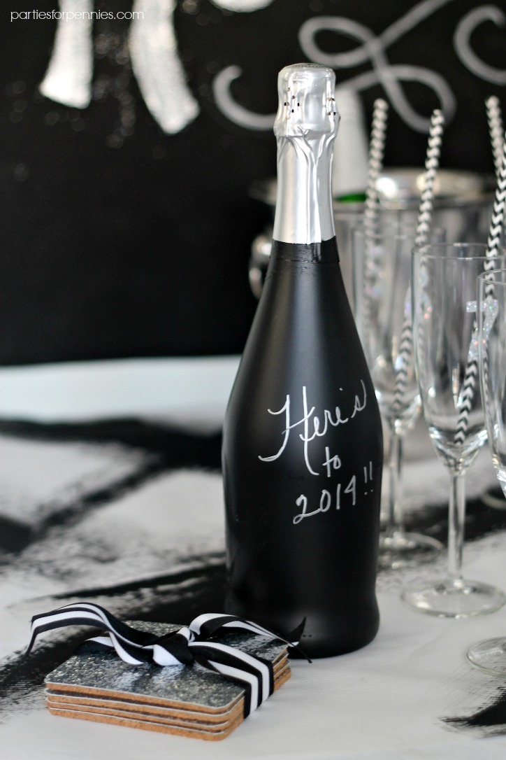 New Years Eve Party - NYE Wish Bottle by PartiesforPennies.com