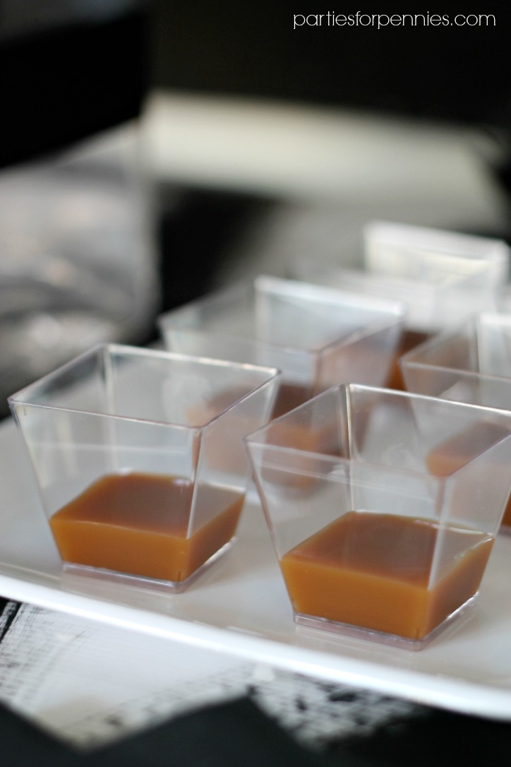 New Years Eve Party - caramel dipping sauce by PartiesforPennies.com