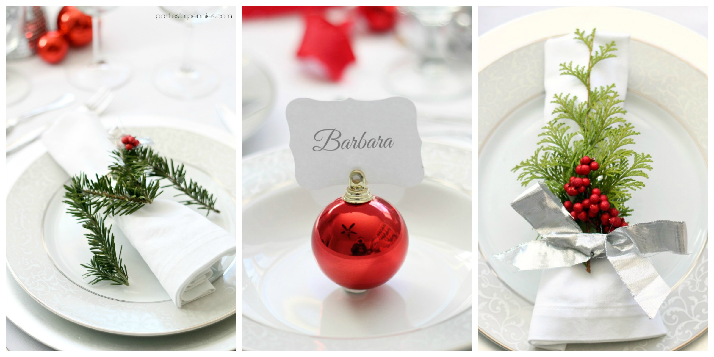 Formal Place Setting Guide Parties For Pennies: christmas place setting ideas