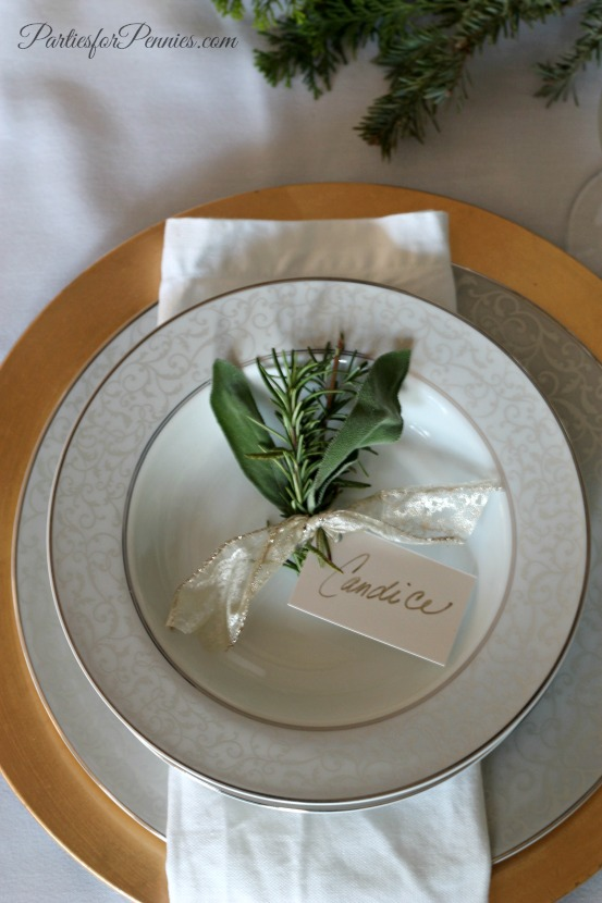 Natural Placecard Setting by PartiesforPennies.com