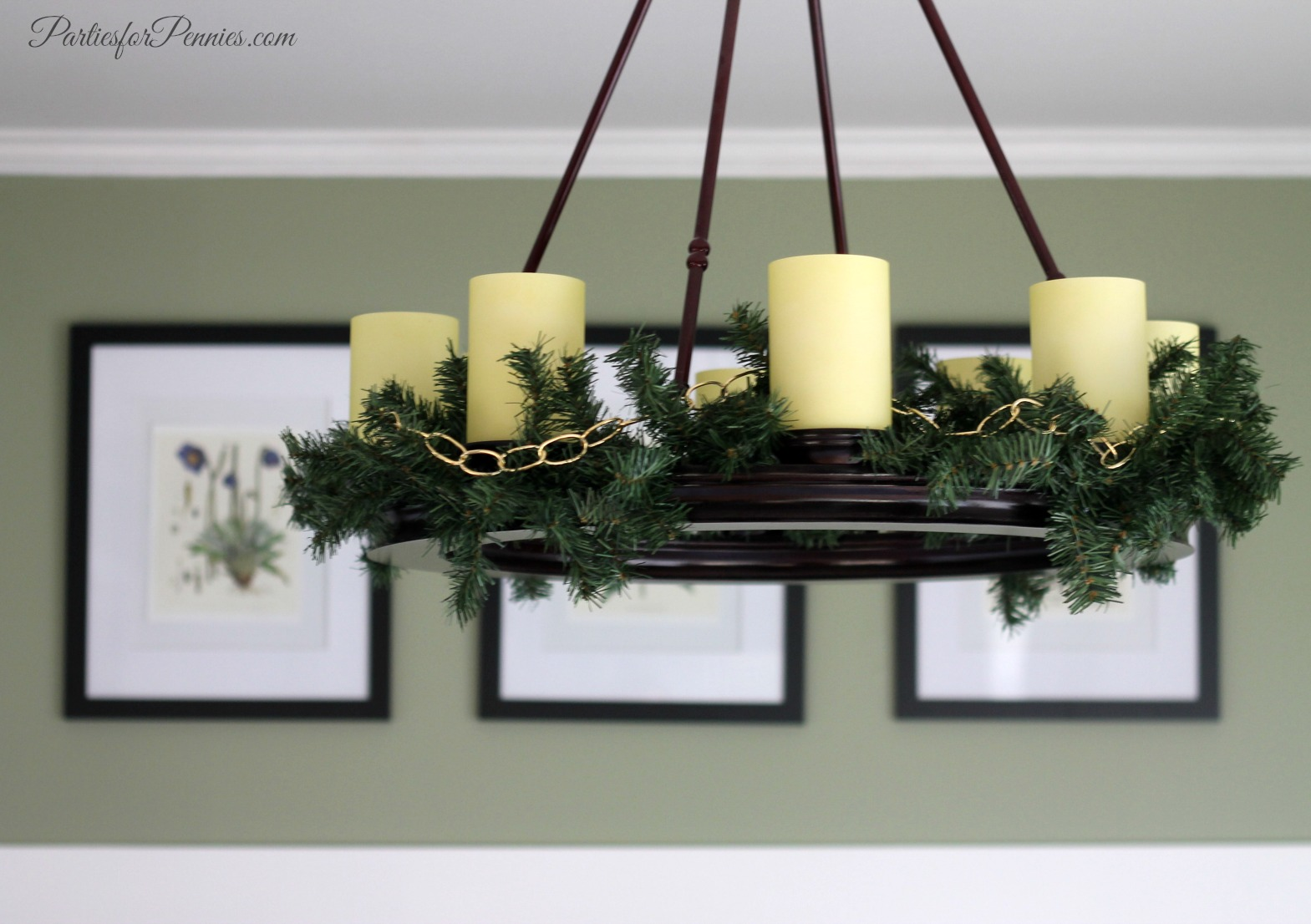 Wintry Decorating by PartiesforPennies.com