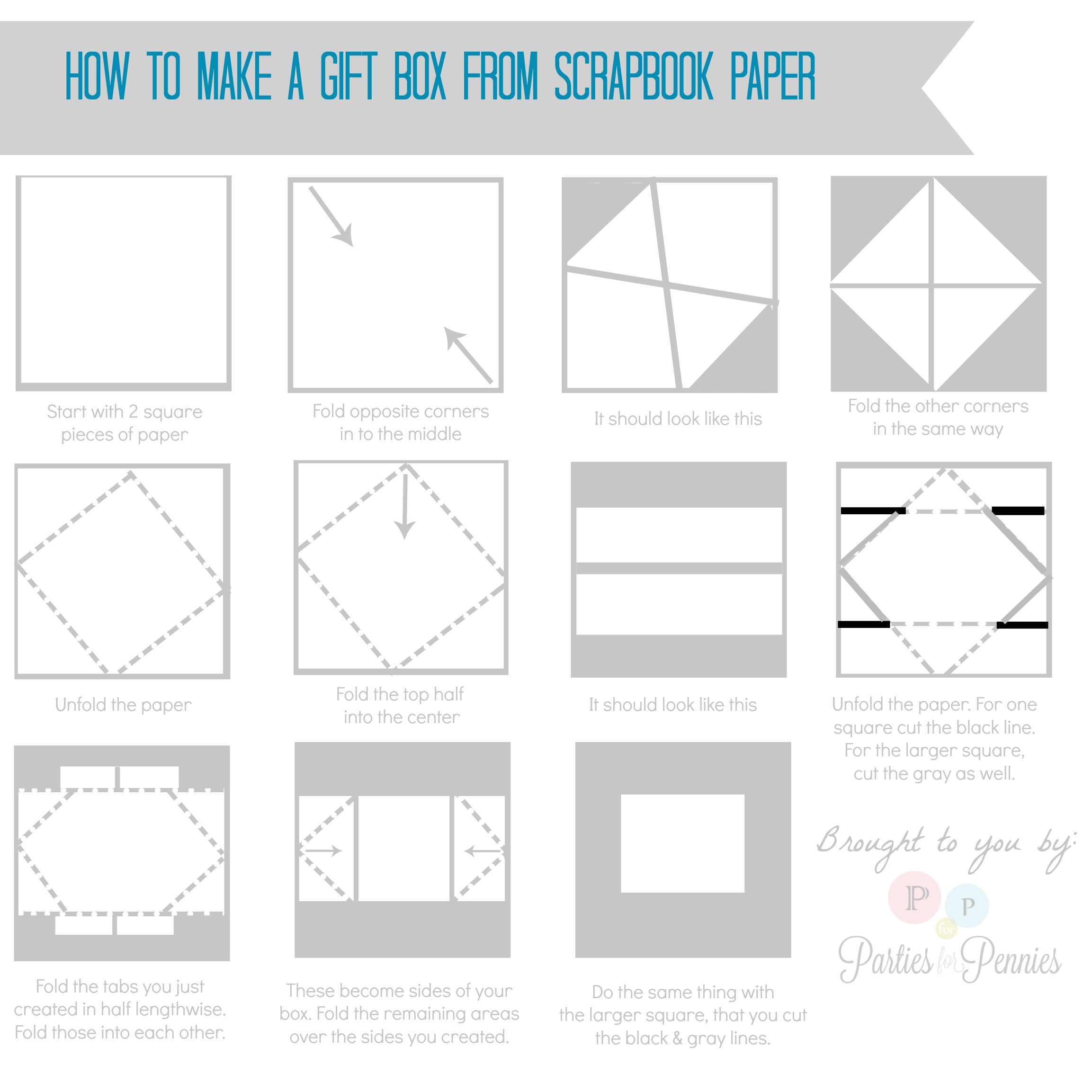 How to make a giftbox from paper