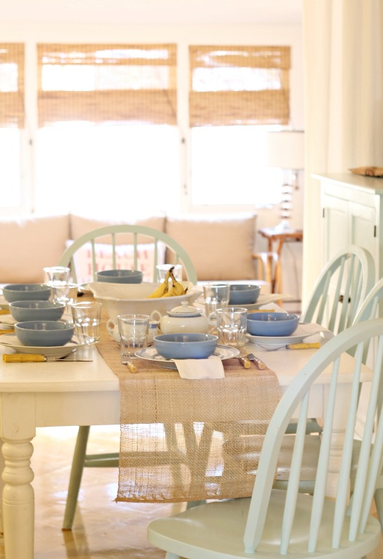 Tybee Sleepover - Beachy Tablesetting 4