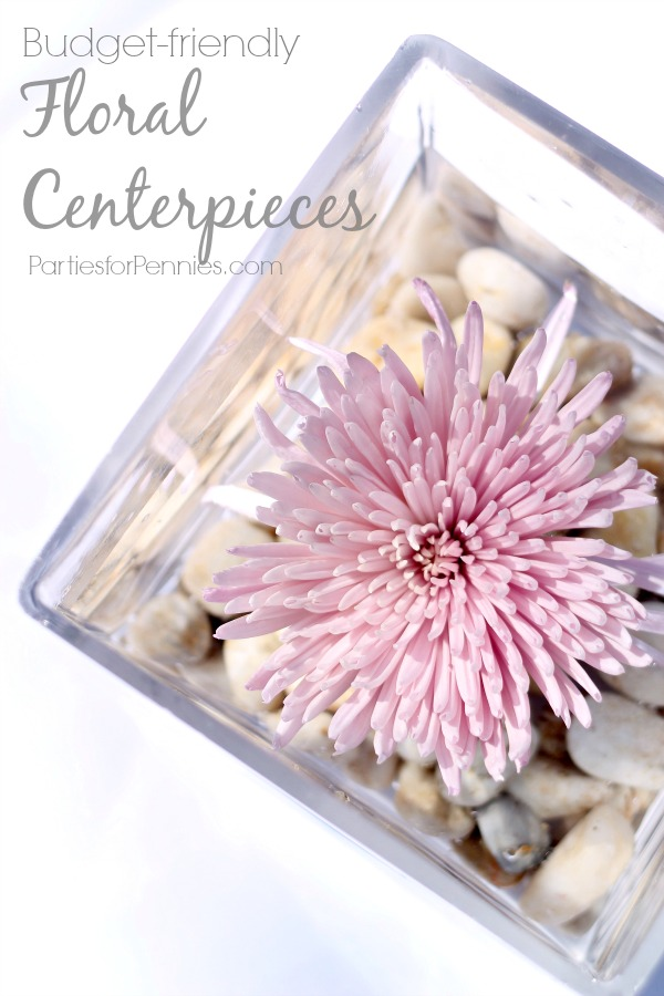 budget friendly floral centerpieces