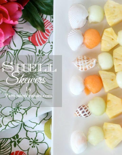 seashell skewers