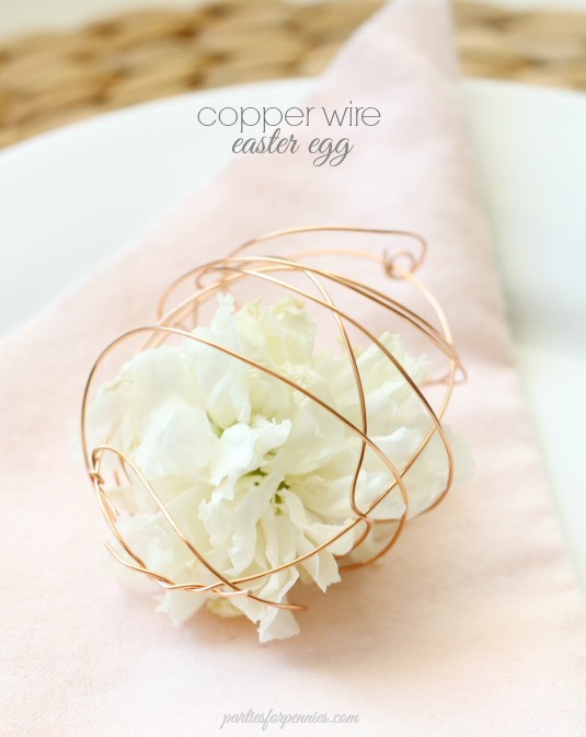Copper Wire Easter Egg Craft by Heidi Rew of PartiesforPennies.com