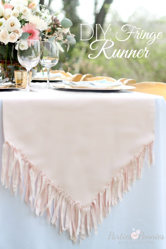 Fringe Table Runner Tutorial by PartiesforPennies.com