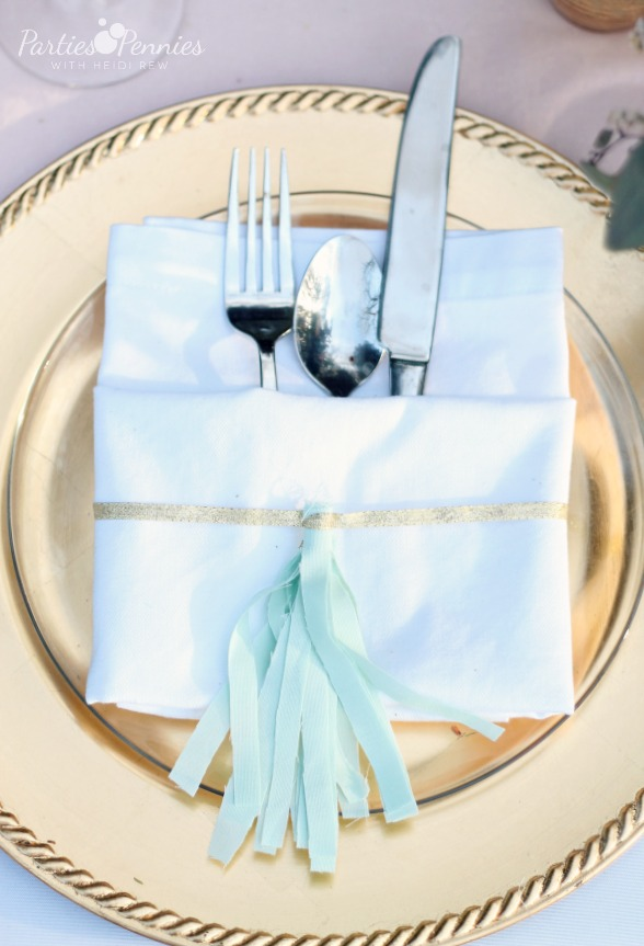 DIY Tassel Napkin Ring by PartiesforPennies.com