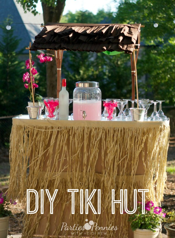 DIY Tiki Hut by PartiesforPennies.com