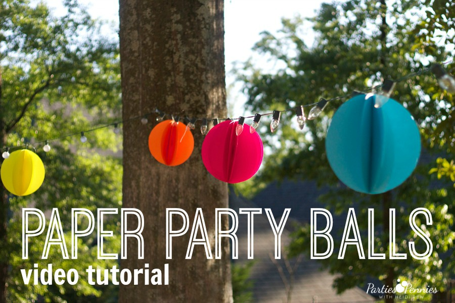 Paper Party Decoration by PartiesforPennies.com | Video Tutorial