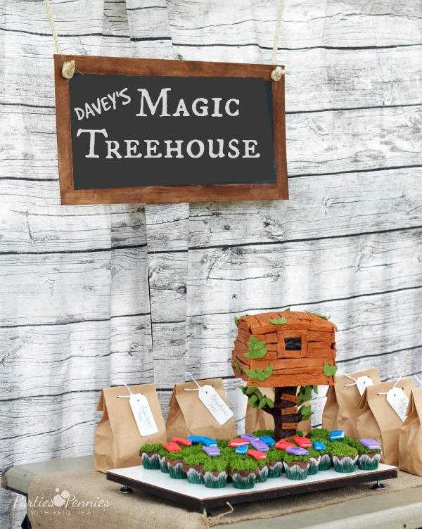 Magic Treehouse Party | PartiesforPennies.com |#kidsparty #magictreehouse #boybirthday